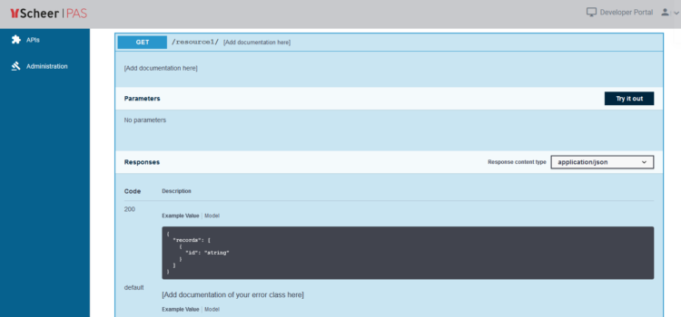 Scheer PAS API Management